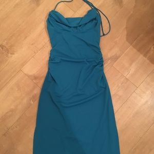 Nicole Miller Turquoise Cocktail Dress